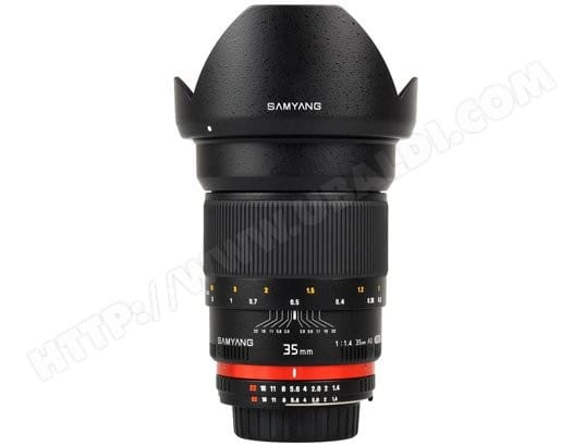 Objectif Reflex SAMYANG 35 mm f/1.4 AS UMC pour Canon