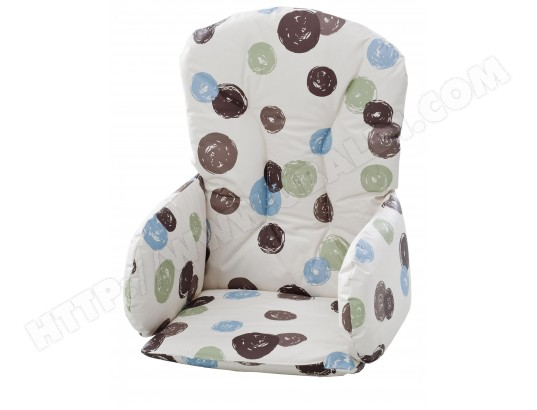 Coussin chaise haute GEUTHER Reducteur siege 4733 pois