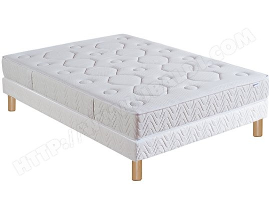 Ensemble 2 personnes EPEDA Lit Flaura 140x190 pieds naturel