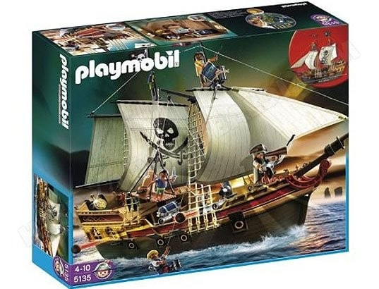Jeu de construction PLAYMOBIL - Bateau d Attaque des Pirates