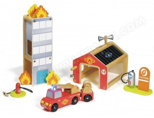 Jeu de construction en bois HOUSE OF TOYS Caserne Des Pompiers