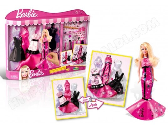 Robe Barbie CANAL TOYS Creatrice De Mode Coffret