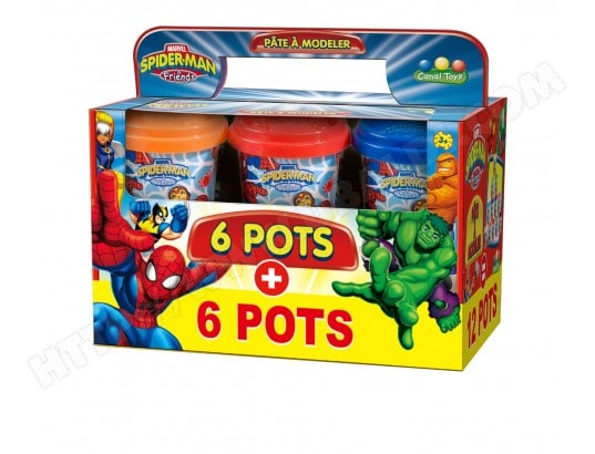 Pâte à modeler CANAL TOYS Spider-Man 6 Pots
