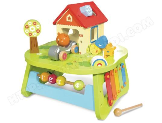 Jeu de construction en bois HOUSE OF TOYS Table Multi Activites
