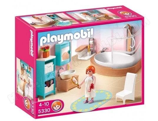 playmobil salle de bains avec baignoire et pare douche - Playmobil Maison Moderne 4279