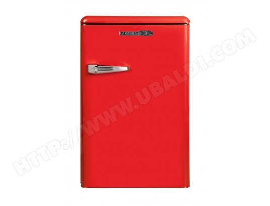 Un petit frigo table top rouge