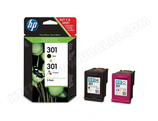 Pack cartouches d'encre HP HP301 pack noir + couleurs