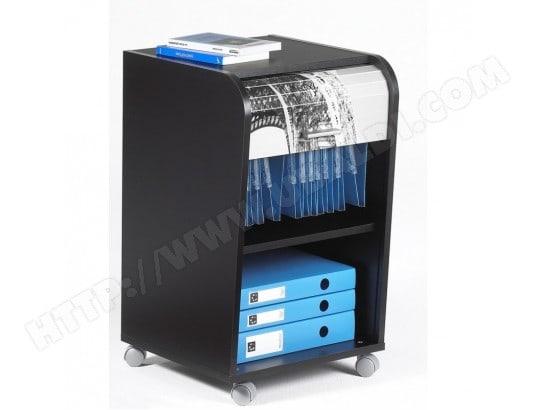 Caisson tréteau noir pour bureau avec rideau imprimé