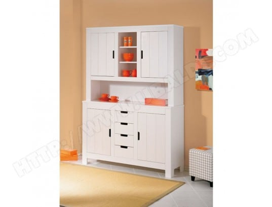 Buffet vaisselier blanc pin 02e4c9b4a753